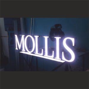 световая вывеска моллис